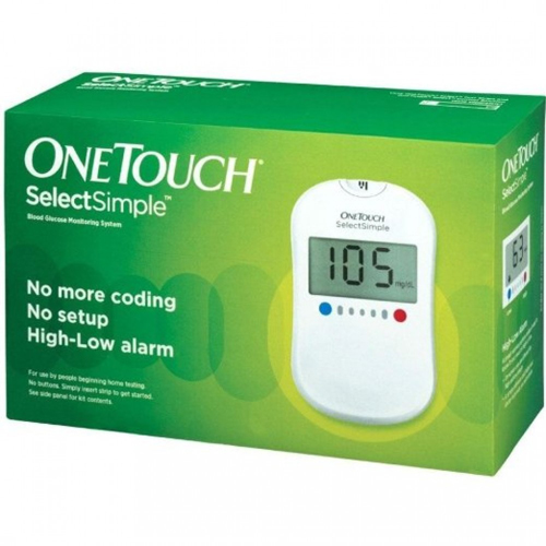 OneTouch Select Simple Glucometer with Free 10 Test strips